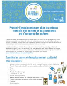 Prévenir l'empoisonnement chez les enfants - Conseils aux parents et aux personnes qui s'occupent des enfants