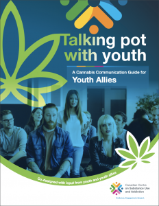 Talking pot with youth publication cover